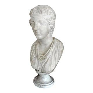 17th Century Italian Carrara Marble Bust of a Classical Roman For Sale