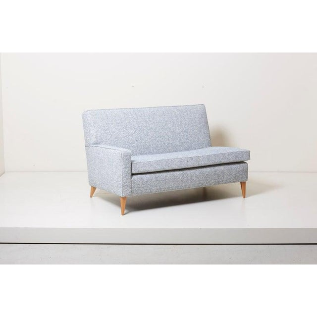 Sectional corner sofa by Paul McCobb for Custom craft or Planner Group, US. Newly upholstered with fabric by Chase Erwin.
