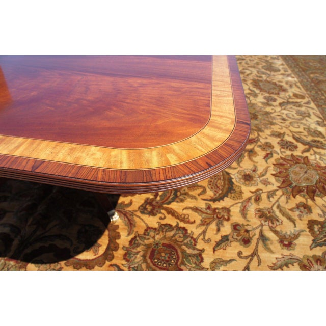 Duncan Phyfe Sheraton Birdcage Style Mahogany Dining Table For Sale - Image 6 of 12