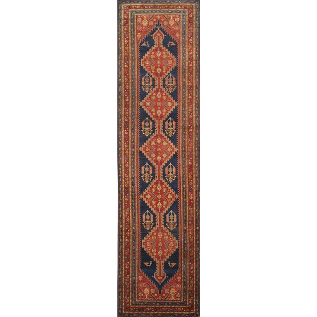 """Pasargad Antique Malayer Wool Area Rug- 4' 0"""" X 14' 0"""" - Image 1 of 2"""