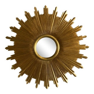 Carvers Guild Starburst Wall Mirror For Sale