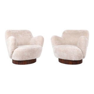 Set of Vladimir Kagan for Directional Swivel Chairs For Sale