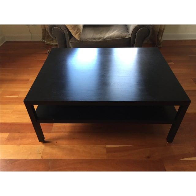 "Modern Black ""Morris"" Coffee Table - Image 6 of 7"