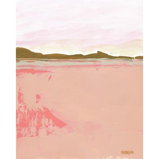 "Contemporary Fine Art Print ""Pink Fields"", Angela Seear 11"" X 14"" For Sale"