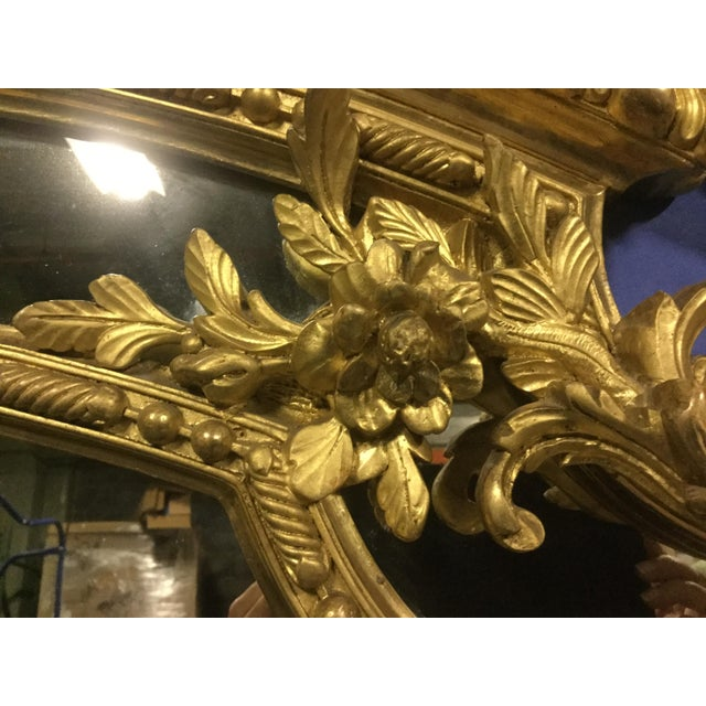 6 ' Tall French 19th C. Gilt Mirror For Sale In New York - Image 6 of 10