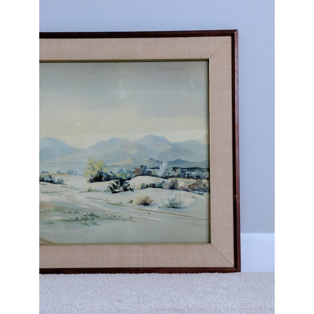 Evelyn E. McGinnis Mid-Century Watercolor Paintings - A Pair For Sale In Raleigh - Image 6 of 11