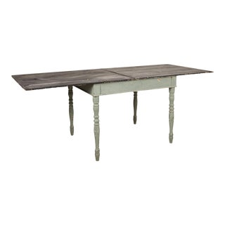 Rustic European Fold Out Dining Table For Sale