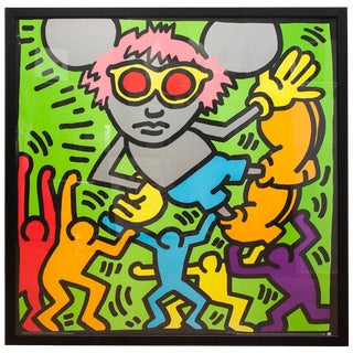 Keith Haring, Andy Mouse, Serigraph For Sale
