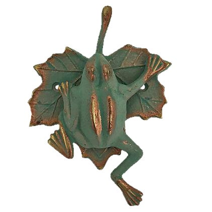 Green & Gold Frog Door Knocker - Image 1 of 7