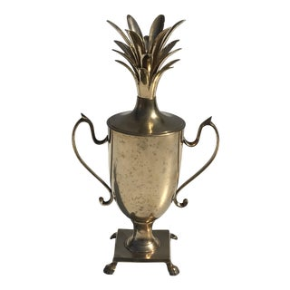 Brass Pineapple Beverage Cooler Ice Bucket