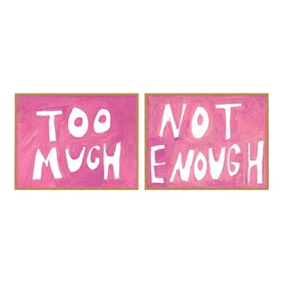 Too Much Not Enough by Virginia Chamlee in Gold Framed paper, Small Art Print