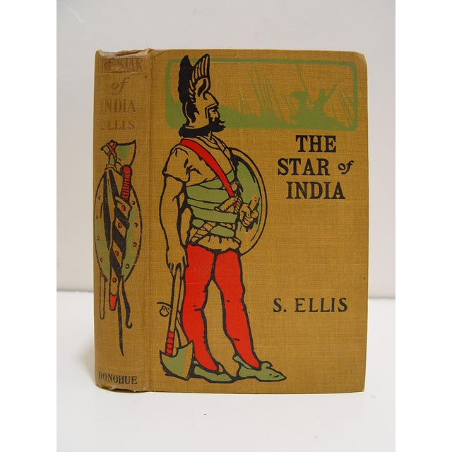 The Star of India by Edward Ellis. Published by M. A. Donohue, 1888, first edition. Tan cloth binding with illustrated...