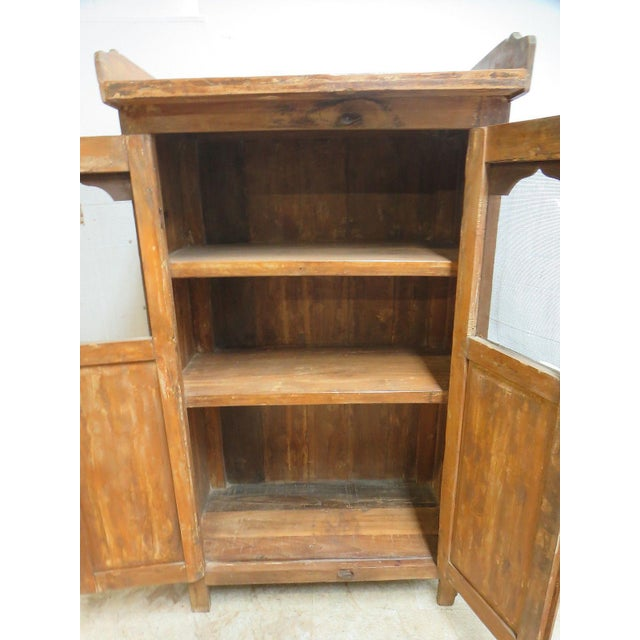 Antique Primitive China Cabinet Cupboard - Image 6 of 8
