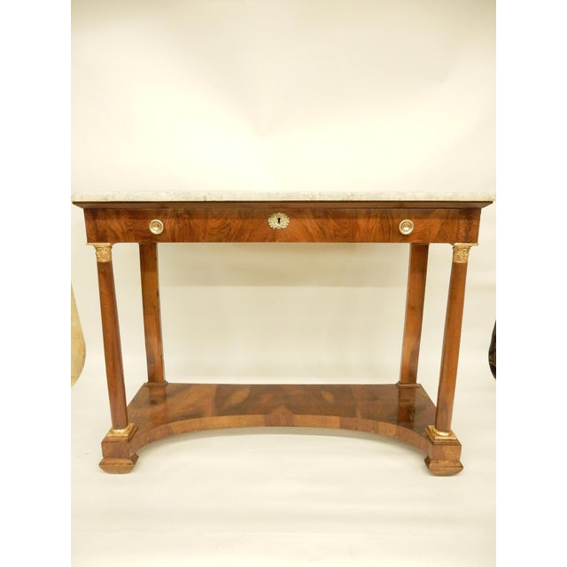 French Empire Walnut Console For Sale - Image 10 of 10