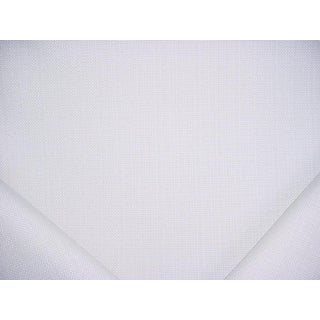 Traditional Ralph Lauren Soliana Solid White Outdoor Patio Upholstery Fabric - 4y For Sale
