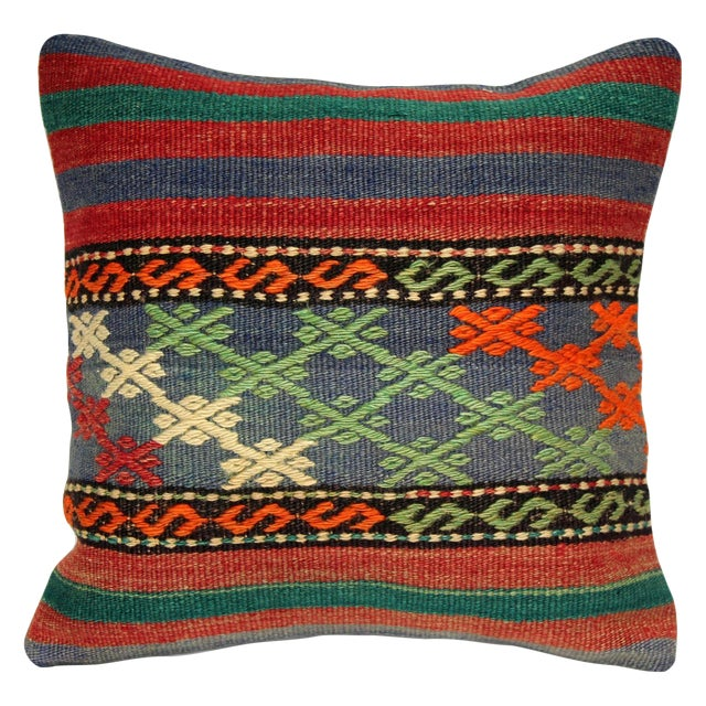Turkish Handmade Kilim Pillow Cover - Image 1 of 6