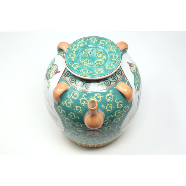 Vintage Chinese Decorative Lidded Water Jug For Sale In Tampa - Image 6 of 13