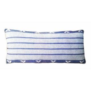 Denim & Embrodiered Lumbar Pillows - A Pair