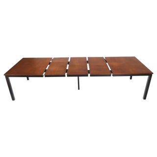 Large Square Expandable Dining Table 3 Extension Boards Atr. Harvey Probber For Sale