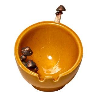Vintage Yellow-Orange Egg Mushroom Cup Ashtray