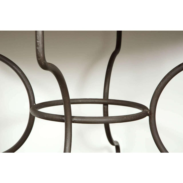 Moroccan Artist Moroccan Marble and Stone Mosaic Table Indoor or Outdoor For Sale - Image 4 of 10