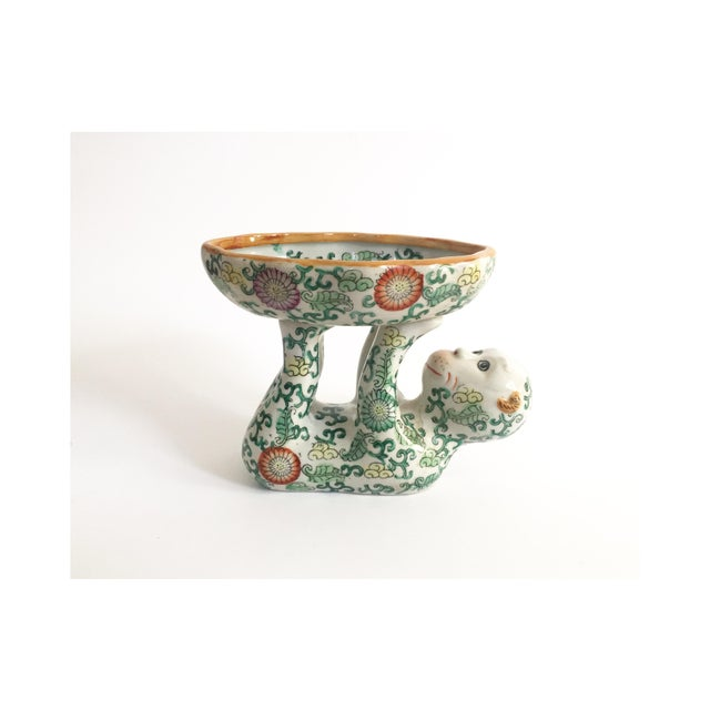 Ceramic Vintage Ceramic Chinoiserie Monkey Dish For Sale - Image 7 of 7