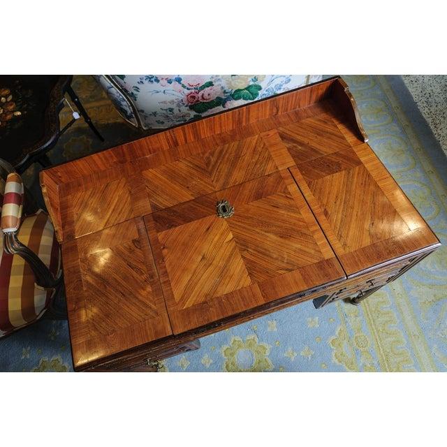 Brown Louis XVI Walnut Valuables Cabinet Desk For Sale - Image 8 of 11