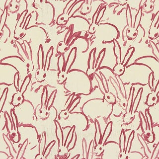 Hunt Slonem for Lee Jofa, Hutch Print Fabric, Pink, 1 Yard For Sale