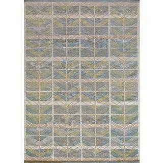 Mansour Modern Swedish Style Flatweave Wool Rug For Sale