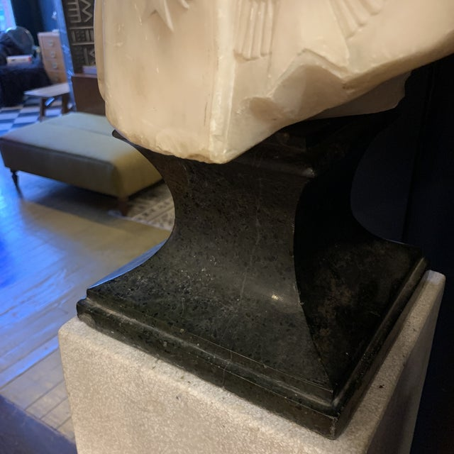 Napoleon Marble Bust W/ Granite Base For Sale In Saint Louis - Image 6 of 10