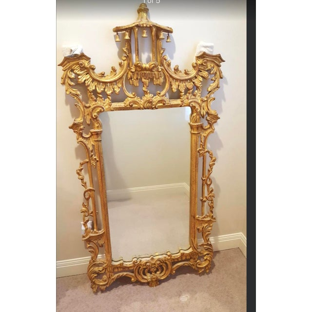 Chinoiserie Vintage Chinoiserie Pagoda Mirror For Sale - Image 3 of 6
