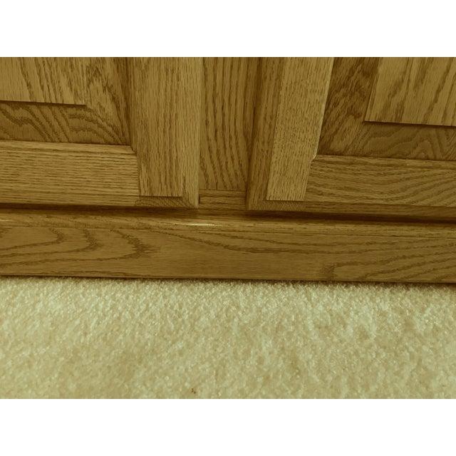 Brown Solid Oak Corner Display Cabinet For Sale - Image 8 of 12