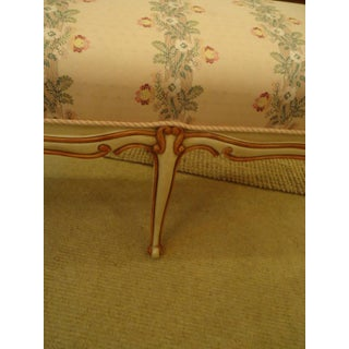 Long French Painted & Upholstered Bench Preview