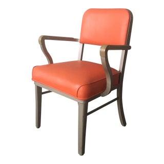 Vintage Mid Century Industrial Steelcase Armchair For Sale