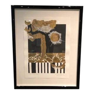 """Late 20th Century Susan Cohen """"Rain Forest Secrets"""" Mixed Media Collage For Sale"""