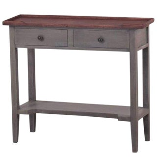 Small Modern Farm Style Charchol Console Side Table For Sale