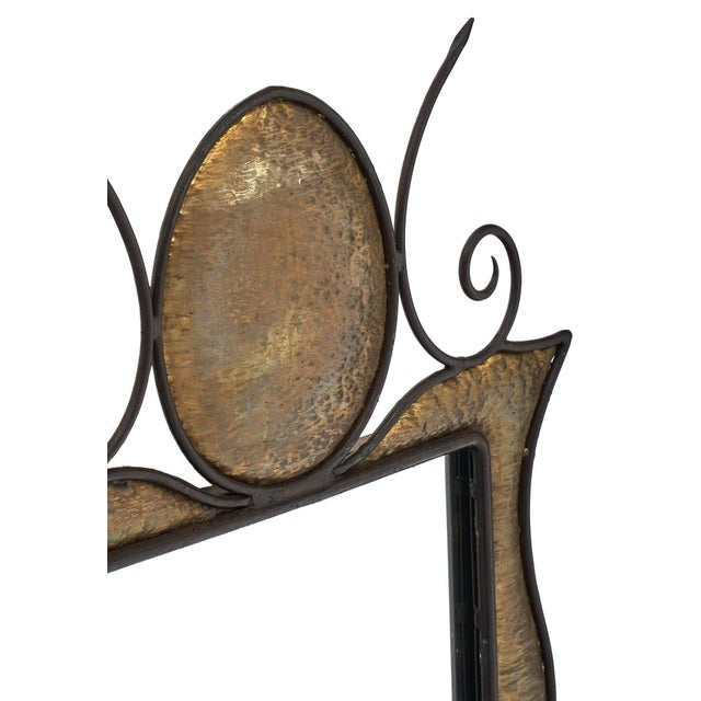 French Art Nouveau Wall Mirror For Sale - Image 4 of 10