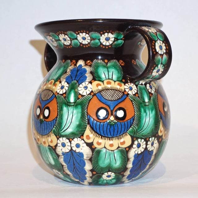Arts & Crafts Antique Swiss Arts & Crafts Thoune Majolica Vase, Jug and Holder - 3 Pc. Set For Sale - Image 3 of 10