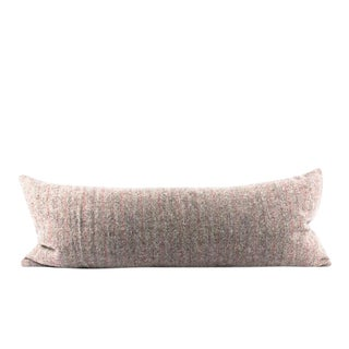Taupe Muted Brown Wool Lumbar Pillow For Sale