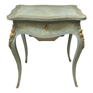 19th Century Custom Painted Ladies Work Table