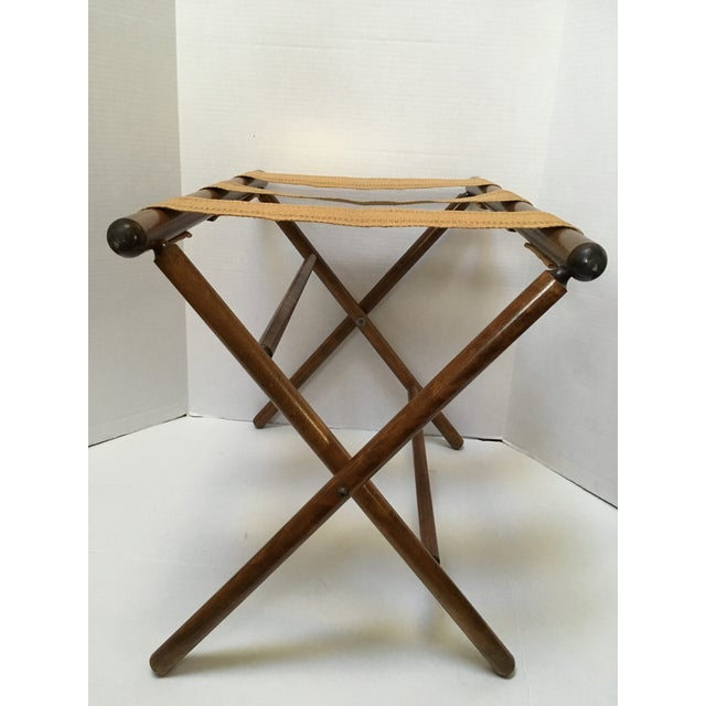 Traditional Vintage Luggage Rack For Sale - Image 3 of 10