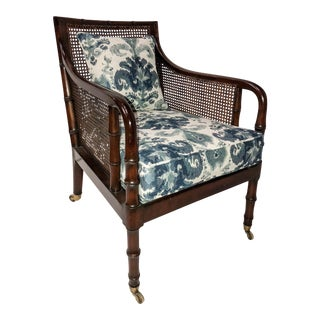 English Caned Club Chair