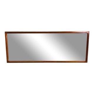 Danish Teak Large Wall Mirror by Aksel Kjersgaard for Odder For Sale