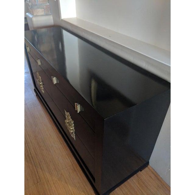 Asian 1940s Vintage Albert of Shelbyville High Gloss Black Dresser/Credenza For Sale - Image 3 of 7