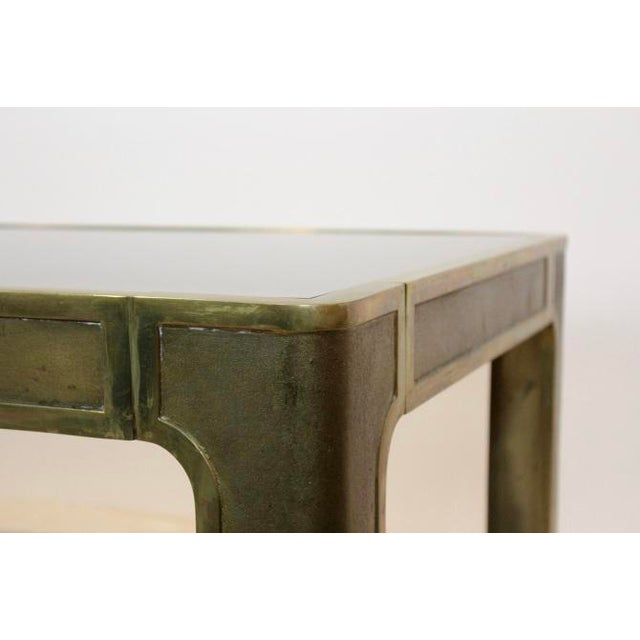 Peter Ghyczy Style Brass and Glass Coffee table - Image 7 of 8