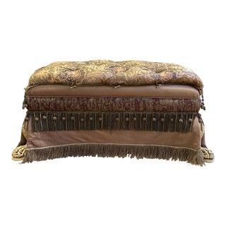 Anne Getty House Goan Claw Foot Ottoman For Sale