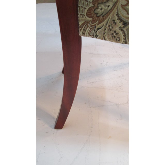 Wood 1940s Vintage Joseph Gerte of Boston Mahogany Arm Chairs - a Pair For Sale - Image 7 of 12