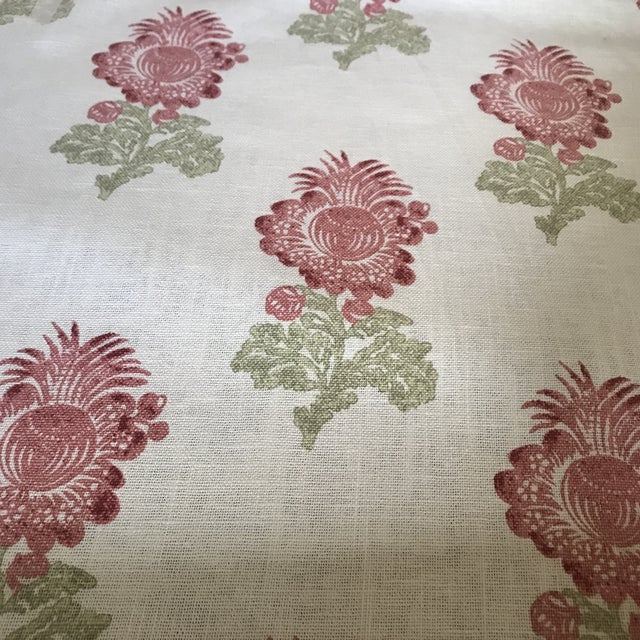 Thibaut Thibaut Aldith Linen Blend Fabric- 7 1/2 Yards For Sale - Image 4 of 5