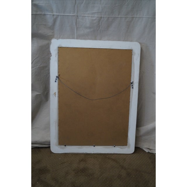 Gray Mid-Century Art Nouveau Style Painted Mirror For Sale - Image 8 of 10