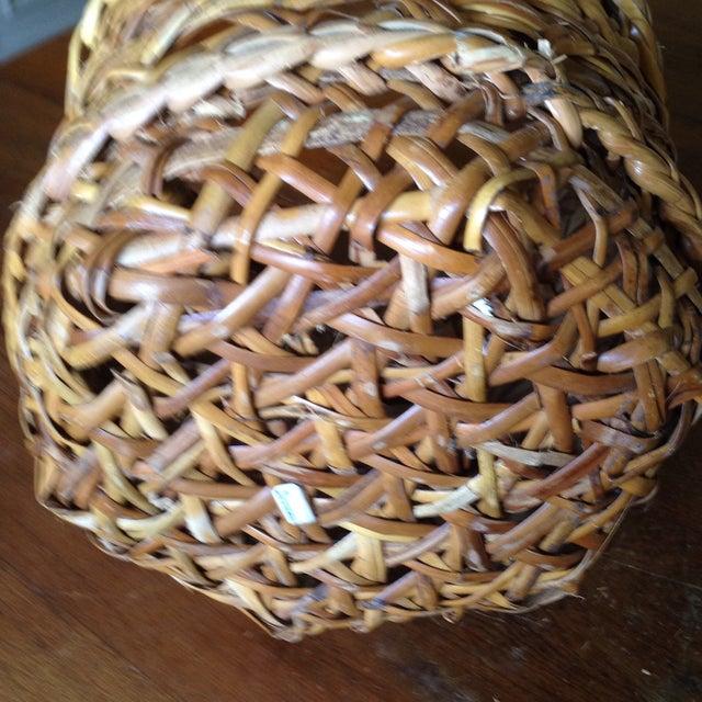 Large Vintage Rattan Planter Basket - Image 6 of 11